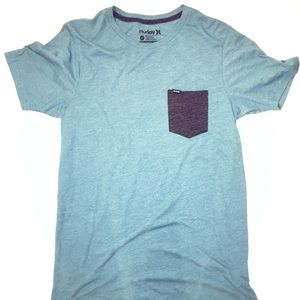 Shirt   Men's Hurley Turquoise Shirt with Pocket